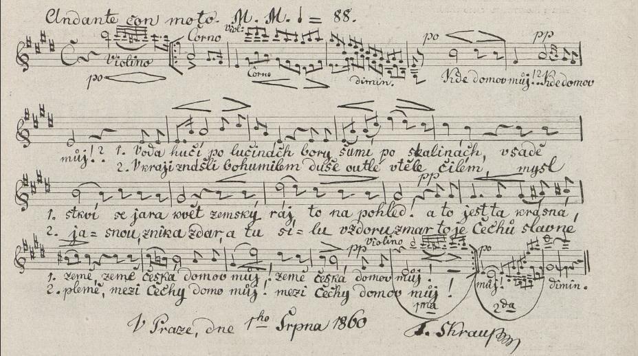Národní hymna - inspirace přišla z přírody a okolí Chateau Trnová
